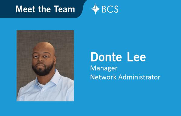 Meet the Team, Donte Lee