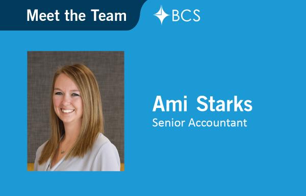 Ami Starks, Senior Accountant