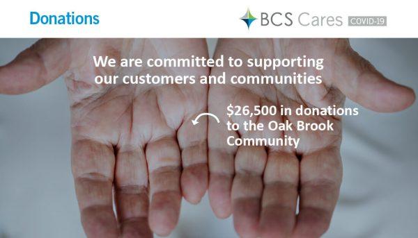 BCS Cares Donation