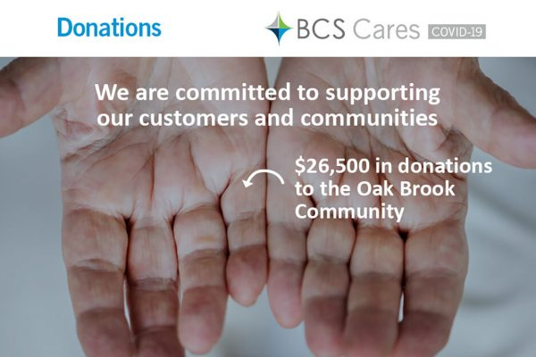 bcs cares oak brook community donation