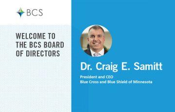 Dr Craig E Samitt new board member