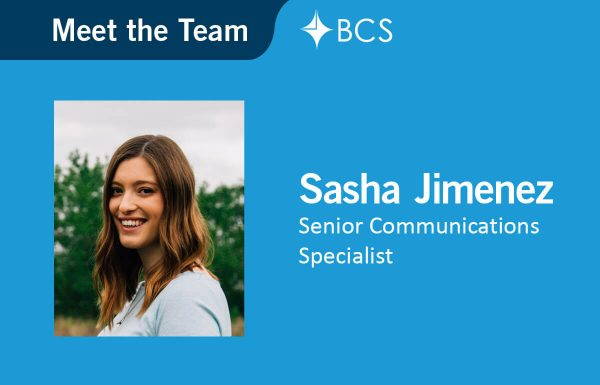 Sasha Jimenez - Senior Communications Specialist