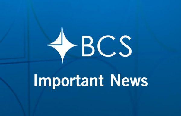 BCS Important News